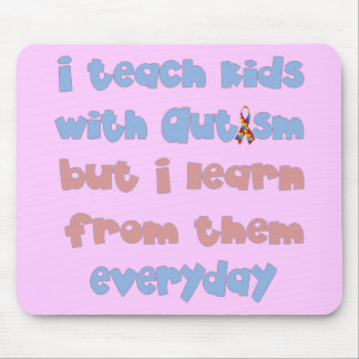 Teach Kids with Autism - Awareness Ribbon Mouse Pad