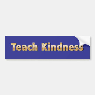 Teach Kindness Bumper Sticker