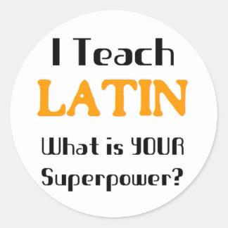Teach Latin Classic Round Sticker