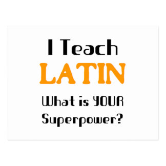 Teach Latin Postcard