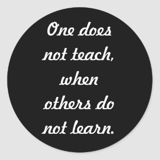 Teach & learn classic round sticker