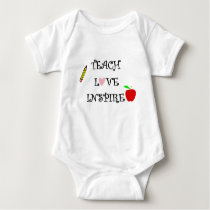 teach love inspire baby bodysuit