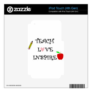 teach love inspire decal for iPod touch 4G
