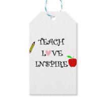 teach love inspire gift tags
