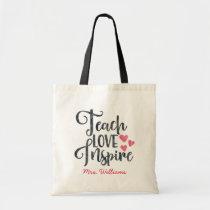 Teach Love Inspire Personalized Teacher Tote Bag