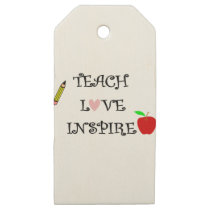 teach love inspire wooden gift tags