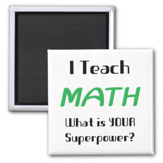 Teach math 2 inch square magnet
