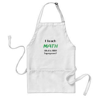 Teach math adult apron