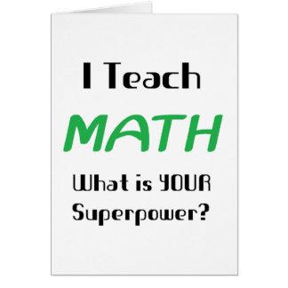 Teach math greeting card