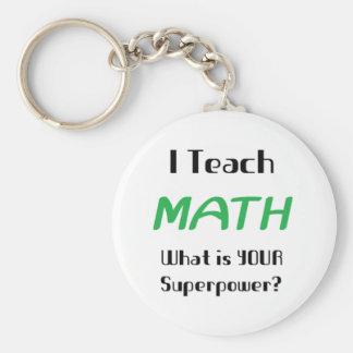 Teach math keychain