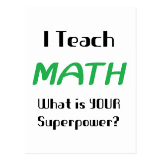 Teach math postcard