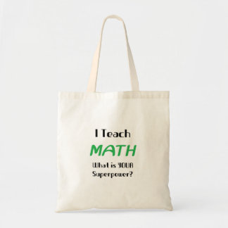 Teach math tote bag