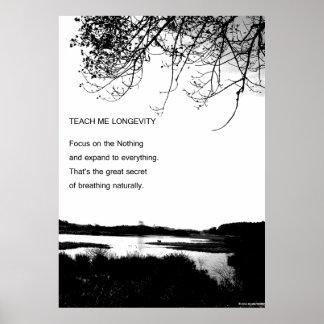 Teach me Longevity Poster
