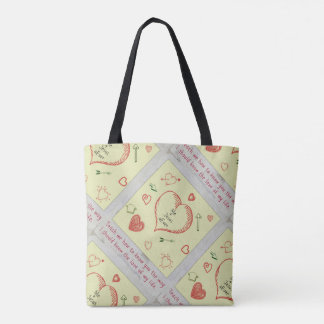 Teach me to know you tote bag
