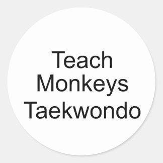 Teach Monkeys Classic Round Sticker
