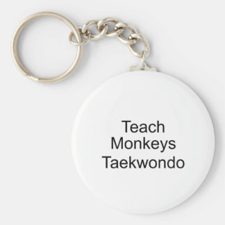 Teach Monkeys Keychain