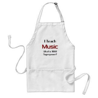 Teach music adult apron