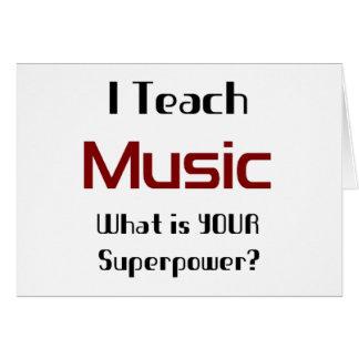 Teach music card