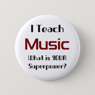 Teach music pinback button