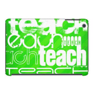Teach; Neon Green Stripes iPad Mini Retina Case