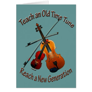 Teach Old Time Tune Greeting Card