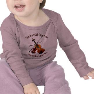 Teach Old Time Tune Infant Long Sleeve Tee Shirts
