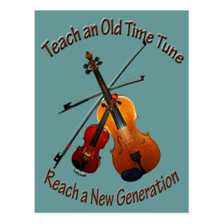 Teach Old Time Tune Postcard