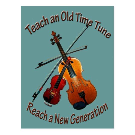 Teach Old Time Tune Postcard