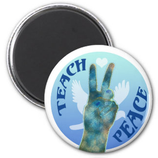 Teach Peace 1 2 Inch Round Magnet