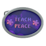 Teach Peace Belt Buckle