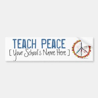 Teach Peace - Bumper Sticker Car Bumper Sticker