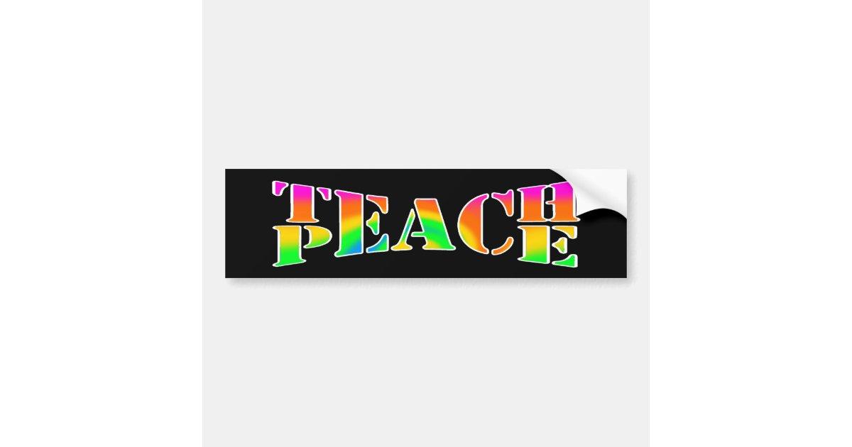Teach Peace vinyl decal car bumper sticker 247