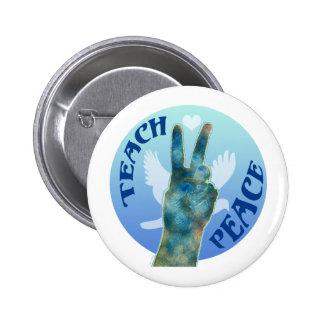 Teach Peace Button