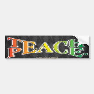 TEACH PEACE CAR BUMPER STICKER