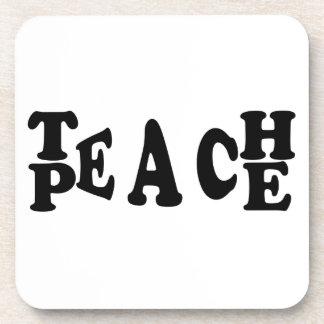 Teach Peace Coaster