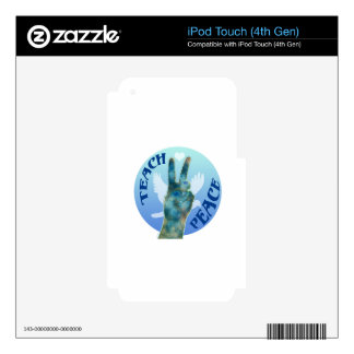 Teach Peace Decal For iPod Touch 4G