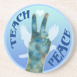 Teach Peace Drink Coaster