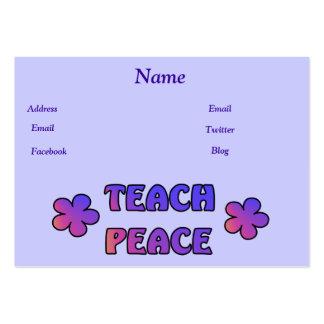 Teach Peace Large Business Card
