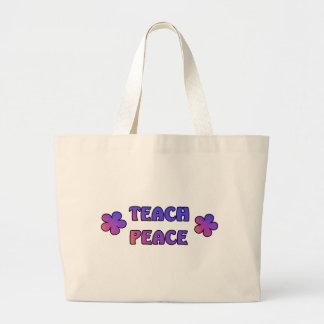 Teach Peace Large Tote Bag