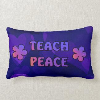 Teach Peace Lumbar Pillow