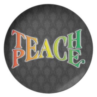 Teach Peace Melamine Plate