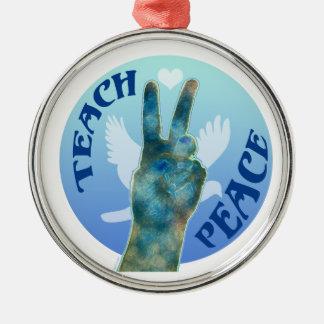 Teach Peace Ornaments