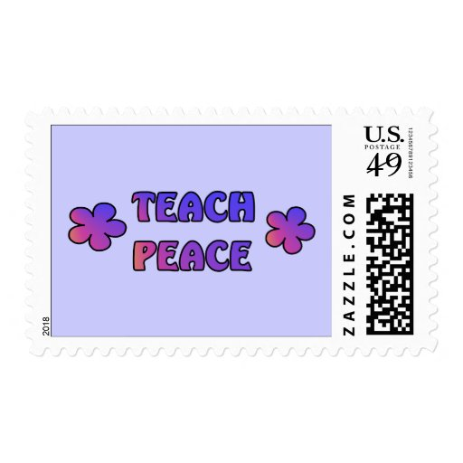 Teach Peace Postage Stamps