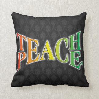 Teach Peace Throw Pillow