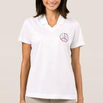 TEACH PEACE with Peace Sign Polo Shirt