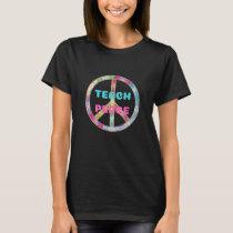 TEACH PEACE with Peace Sign T-Shirt