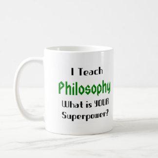 Teach philosophy classic white coffee mug