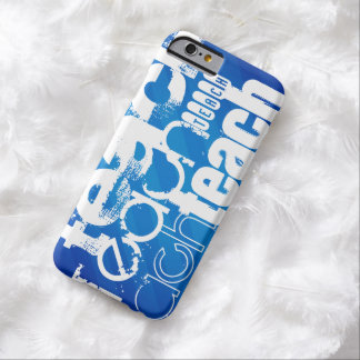 Teach; Royal Blue Stripes Barely There iPhone 6 Case