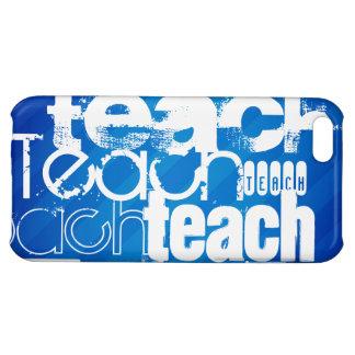 Teach; Royal Blue Stripes iPhone 5C Cases