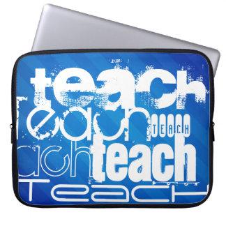 Teach; Royal Blue Stripes Computer Sleeve